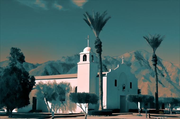 Anza Borrego Desert Church - Fine Art Print - Douglas MooreZart