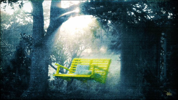 The Yellow Swing - Douglas MooreZart - Fine Art Prints