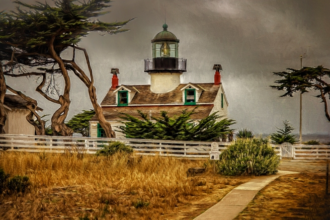 Point Pinos Storm, Monterey Lighthouse - D. Moorezart, c 2015