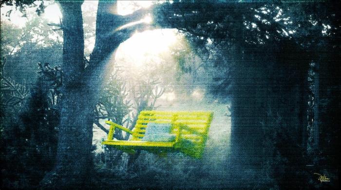 yellow swing