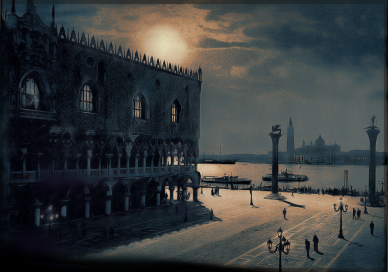 Venetian Midnight - variations on Italian postcards, D. Moorezart